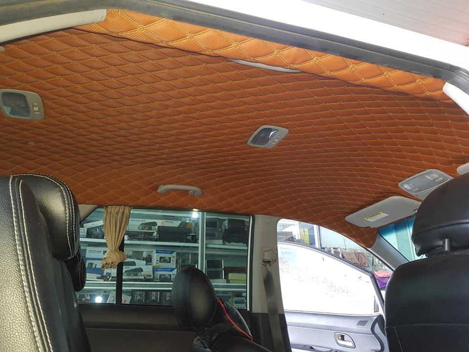 Bọc trần da 5D cho xe Kia Carens
