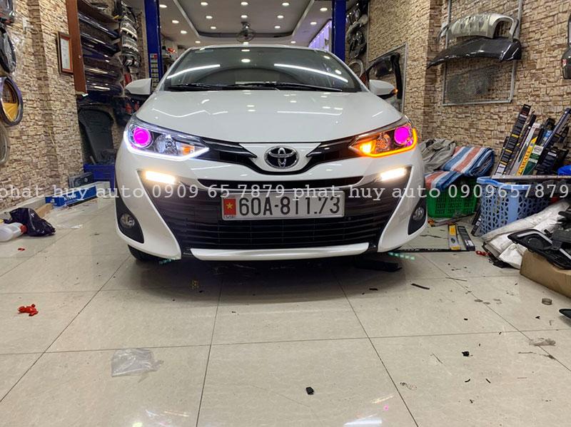 Độ đèn led mí, bi xenon cho xe Toyota Vios 2020