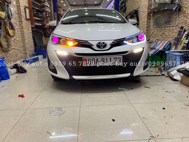 Độ đèn led mí, bi xenon cho xe Toyota Vios 2020 chính hãng