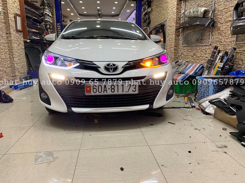 Độ đèn led mí, bi xenon cho xe Toyota Vios 2020 siêu sáng