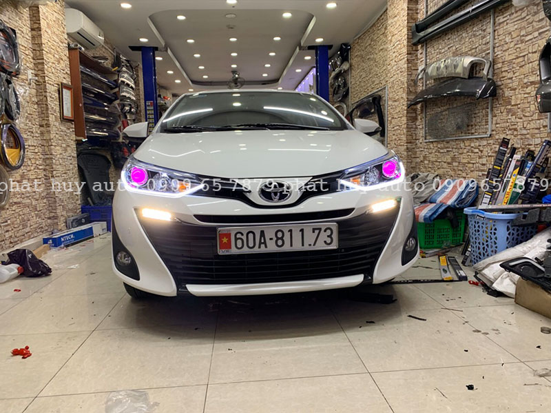 Độ đèn led mí, bi xenon cho xe Toyota Vios 2020 chuyên nghiệp