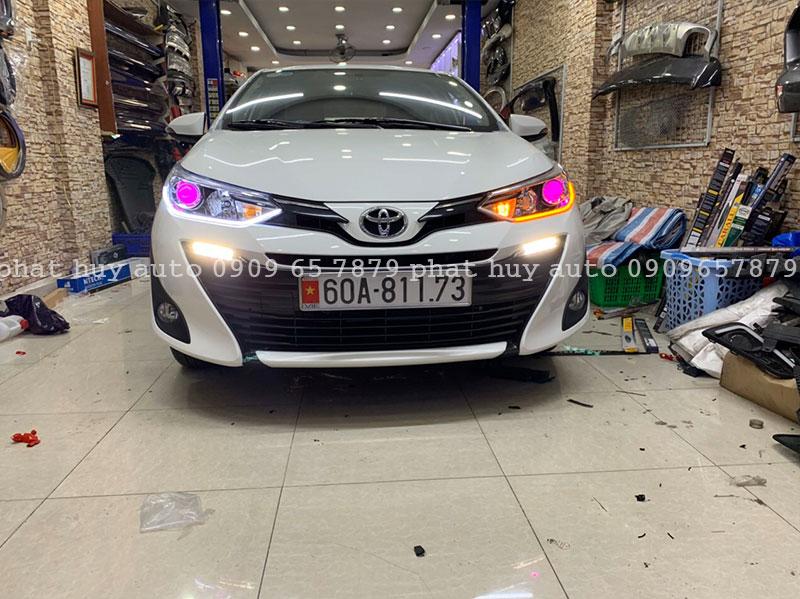 Độ đèn led mí, bi xenon cho xe Toyota Vios 2020 giá rẻ