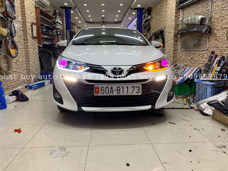Độ đèn led mí, bi xenon cho xe Toyota Vios 2020 tại HCM